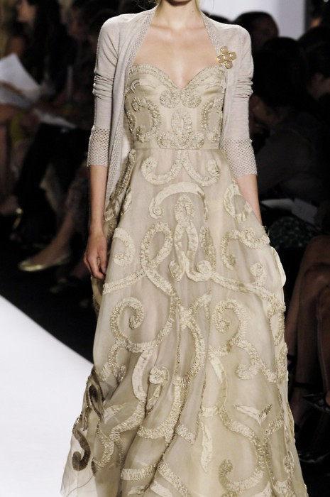 gold ivory embellished gown