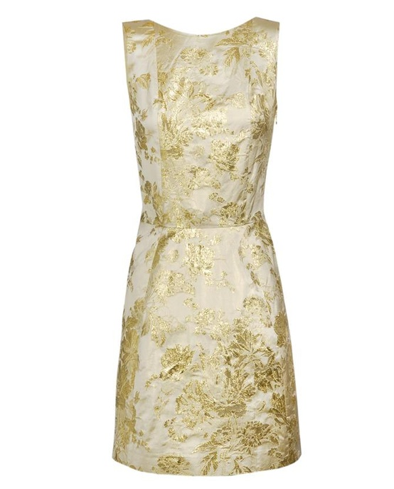 gold ivory short dress