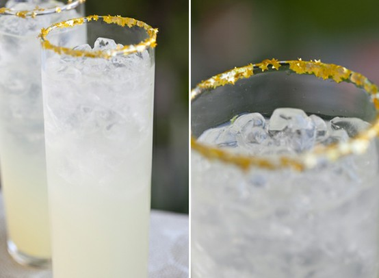 gold lined cocktail