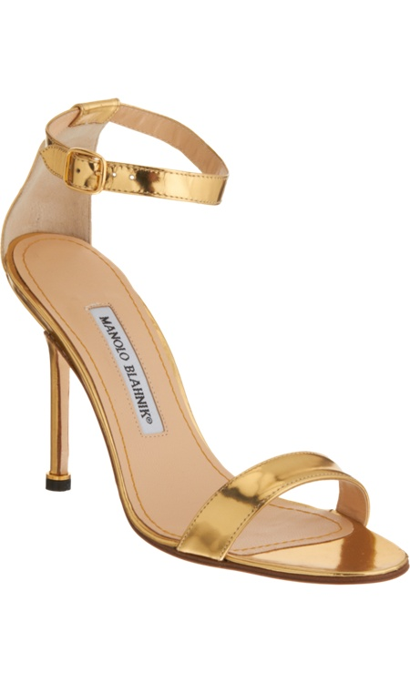 gold manolo blahnik