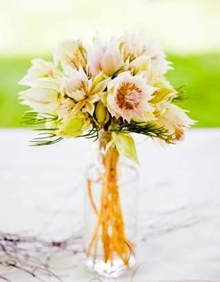 gold pink flower wedding centerpiece