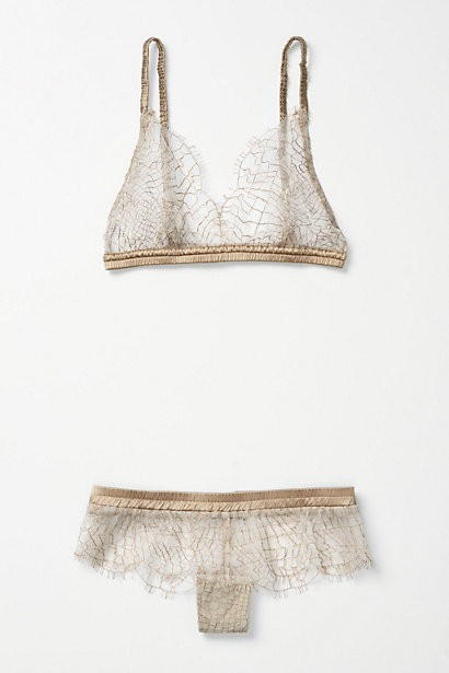 gold sheer wedding lingerie
