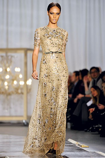 gold silver sparkle gown
