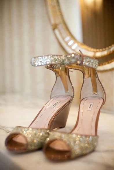 gold silver sparkle shoes