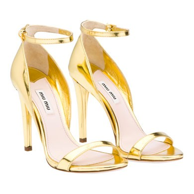 gold stilleto heels