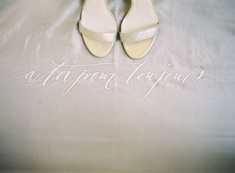 gold wedding shoes elegant