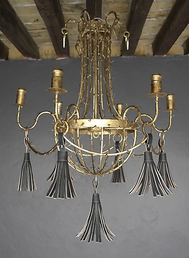 gray tassel chandelier
