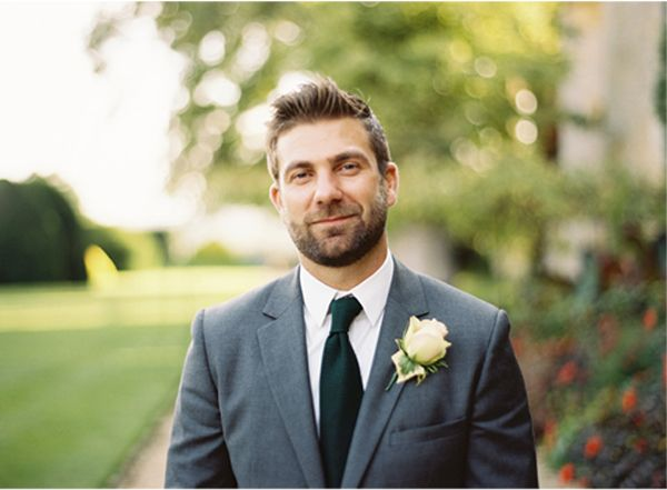 Gray Wool Wedding Suits