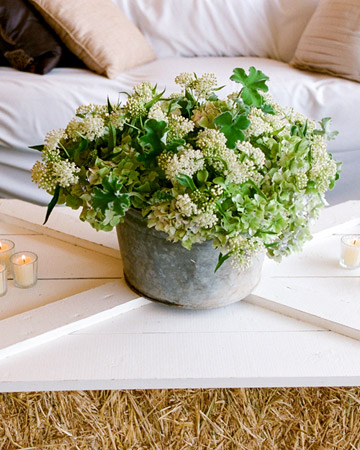 green flower wedding centerpiece