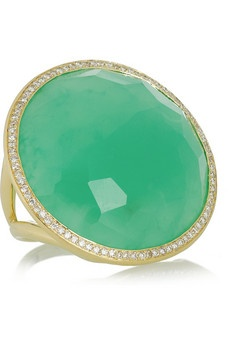 green gold large ring