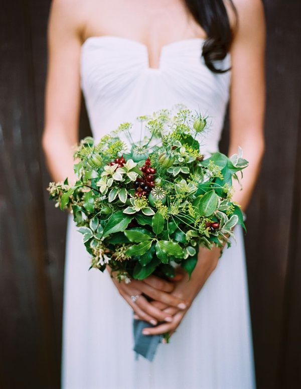 Green Holly Bouquet