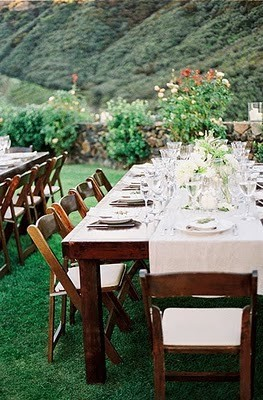 green mountain reception tables