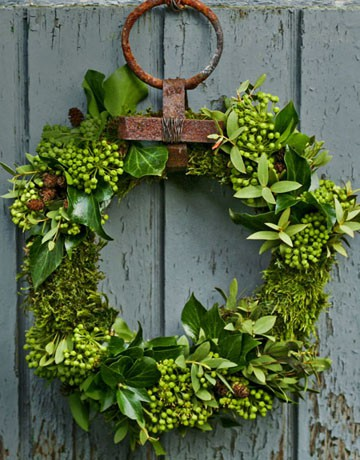greenery wreath door decoration