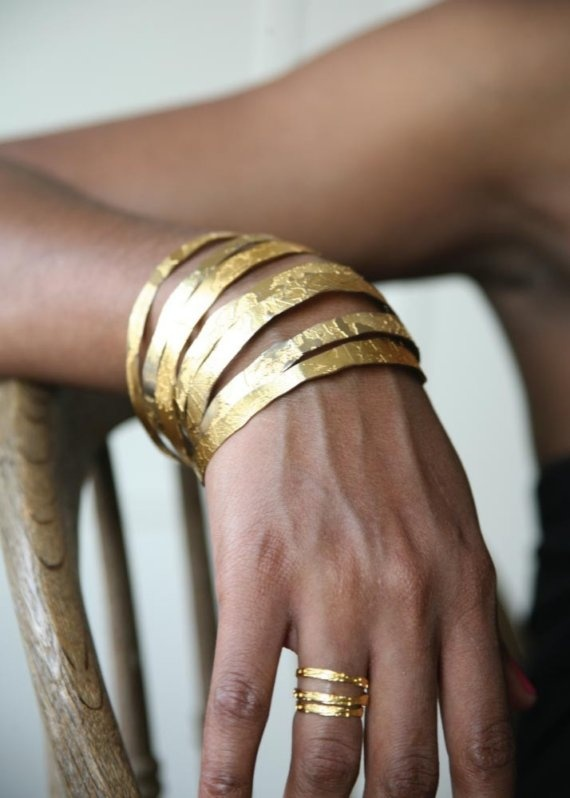 hand etched gold plated brass and copper