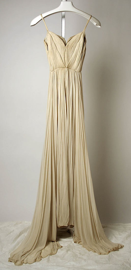 hanging gold gown