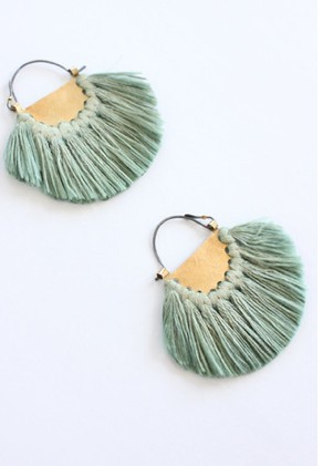hazel cox tassel earrings