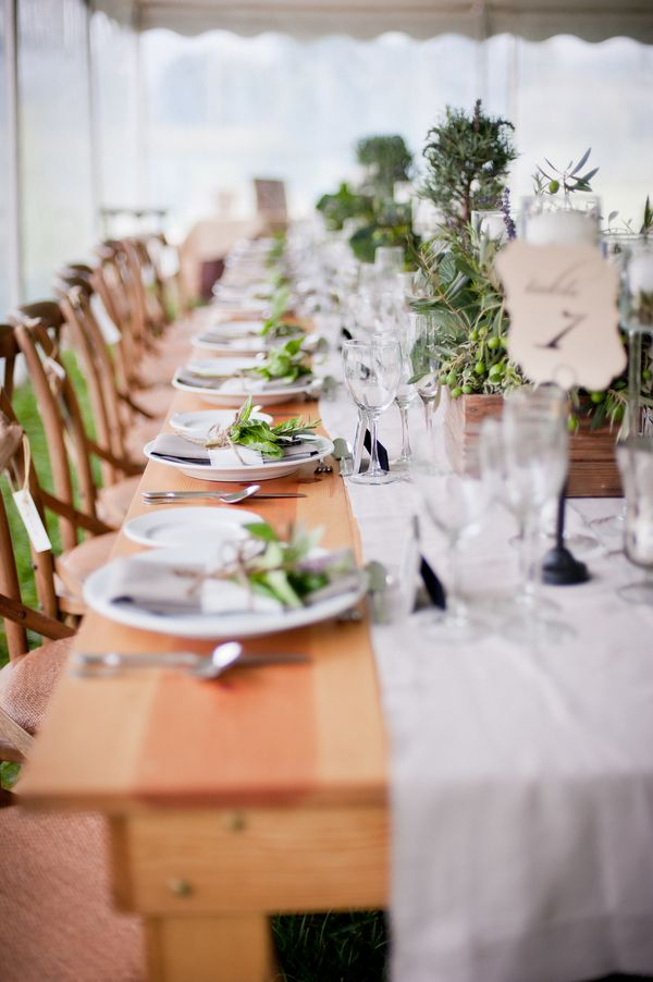 herb table wedding
