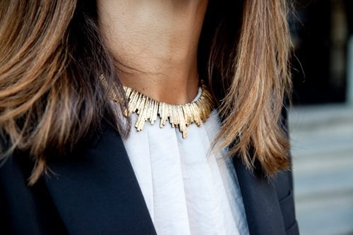 high neck gold necklace