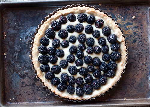 homemade pir blackberry tart
