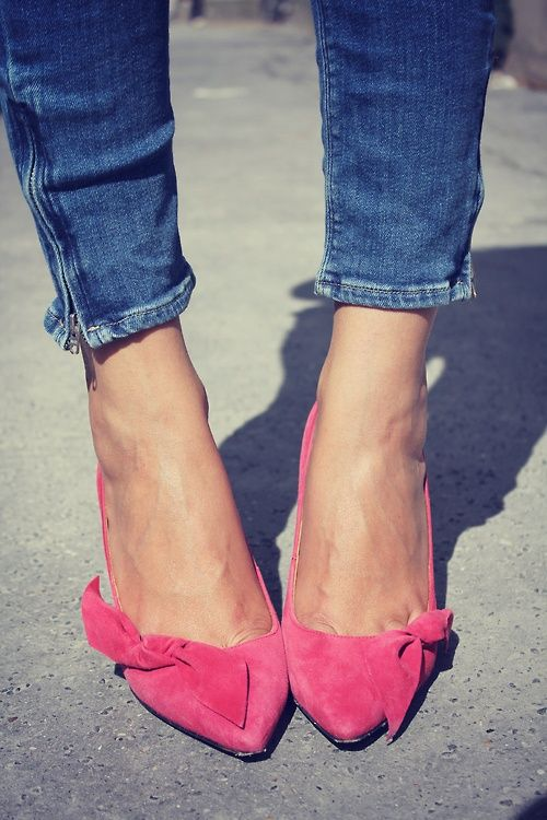 hot pink wedding shoes