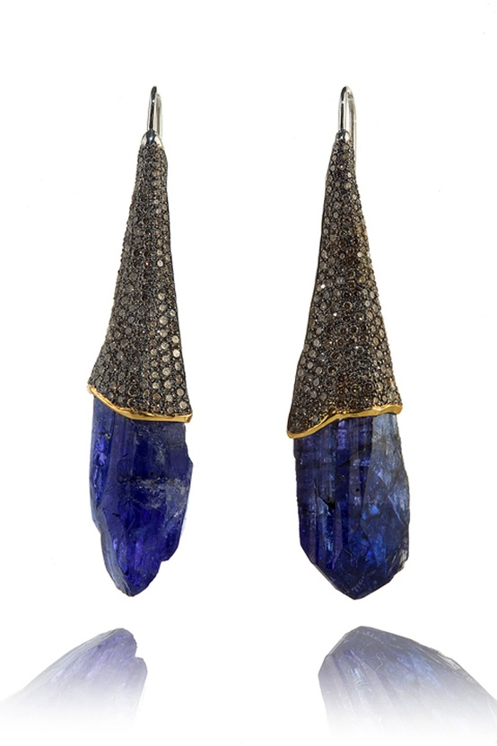 indigo bronze earrings