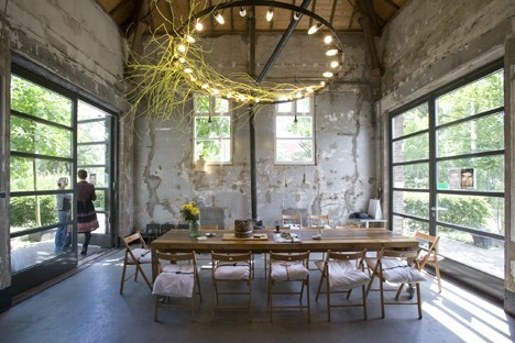industrial chic wedding venue