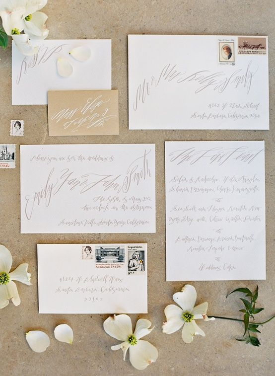 invitation suite calligraphy