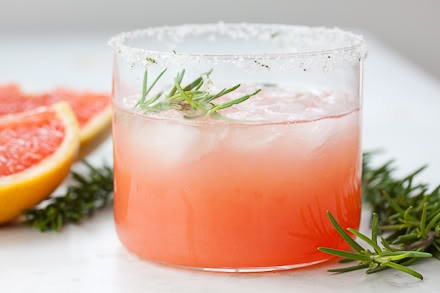 pink rosemary cocktail
