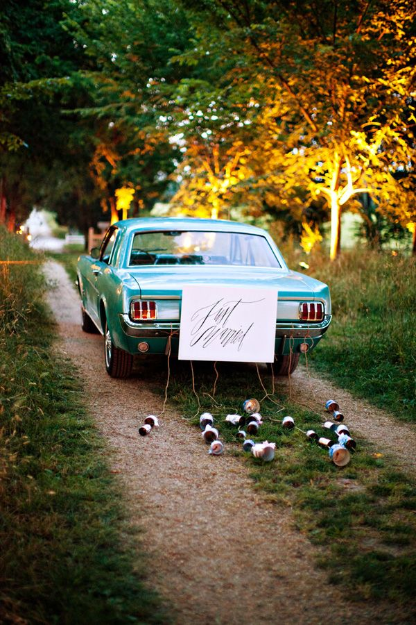 just married get away car