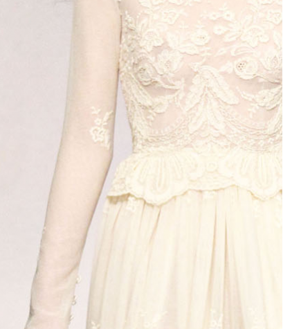 lace ivory bridesmaid dress