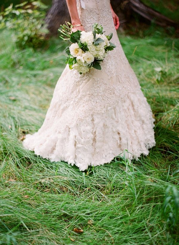 Lace Wedding Dress Bouquet