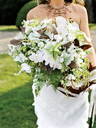large brown feather bouquet