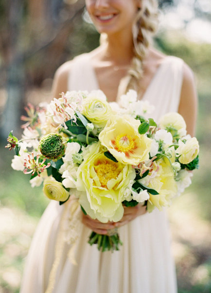 Large Yellow Green Bouquet