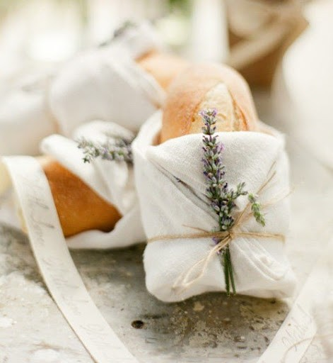 lavender bread wedding favors