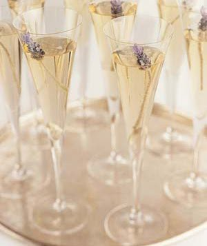 lavender champagne wedding