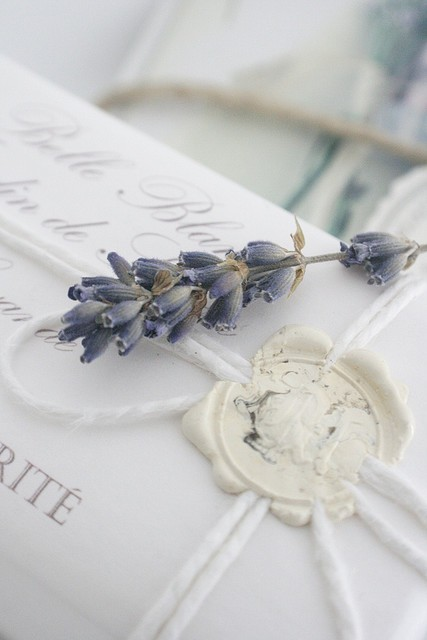 lavender invitation wax seal