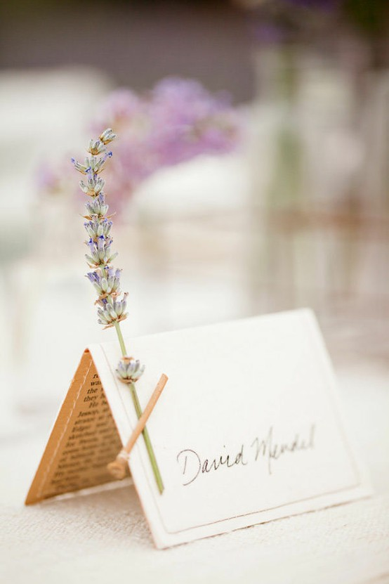 lavender name card