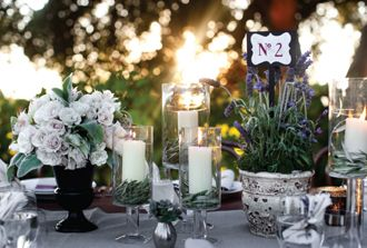 lavender wedding centerpiece table numbers