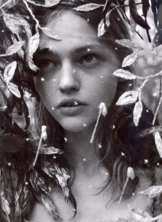 leaf adornment bride