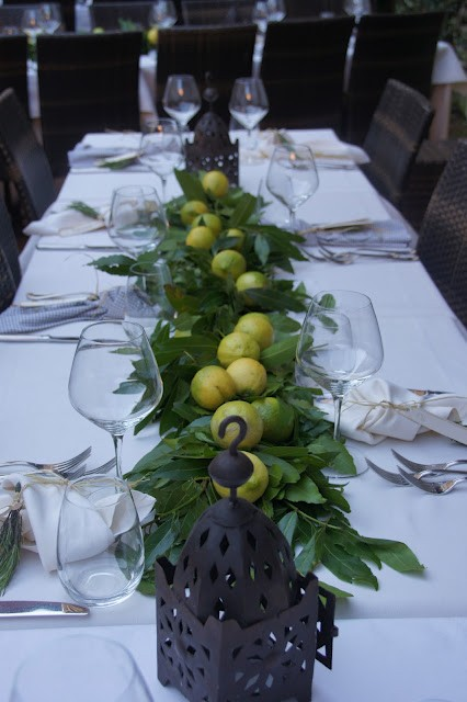 lemon garland wedding centerpiece