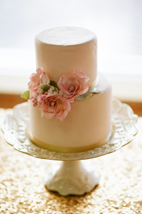 Light brown wedding cake pink flowers once wed light brown wedding cake pink flowers mightylinksfo