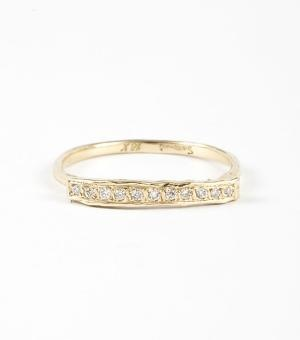 light gold diamond ring
