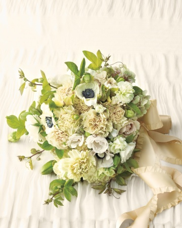 light green white greenhouse bouquet