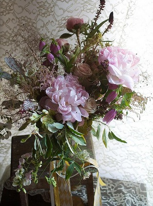 light lavender brown bouquet