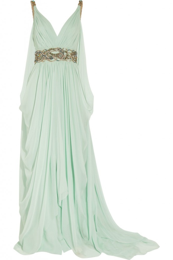 light mint gold gown
