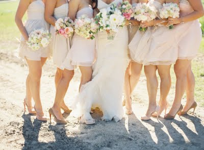 light pink bridesmaid dresses