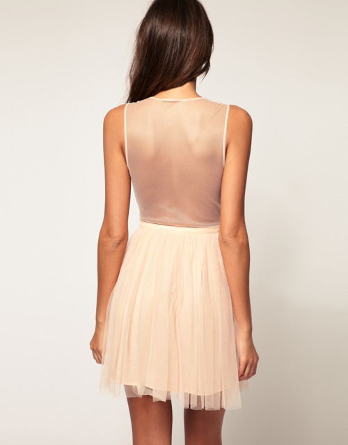 light pink sheer bridesmaid dress