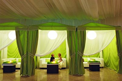 lime green curtain room decor