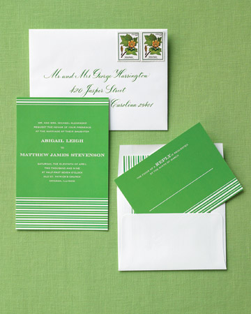 lime green invitation suite