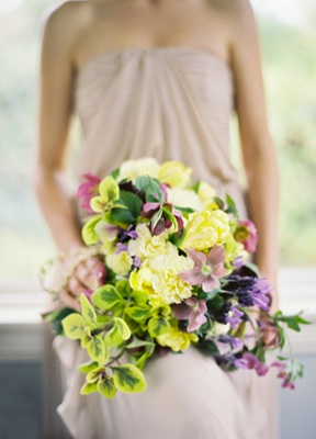 Lime Green Purple Bouquet
